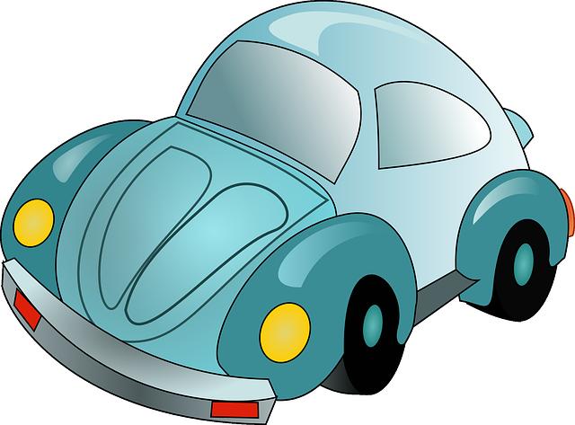 modré autíčko